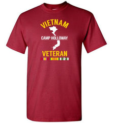 "Vietnam Veteran ""Camp Holloway"" - Men's/Unisex Standard Fit T-Shirt-Wandering I Store"