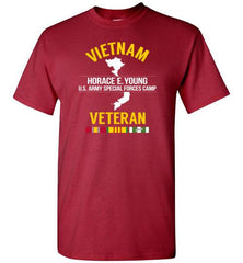 "Vietnam Veteran ""Horace E. Young U.S. Army Special Forces Camp"" - Men's/Unisex Standard Fit T-Shirt-Wandering I Store"