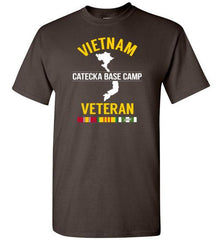 "Vietnam Veteran ""Catecka Base Camp"" - Men's/Unisex Standard Fit T-Shirt-Wandering I Store"