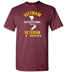 "Vietnam Veteran ""USS Kitty Hawk CVA-63"" - Men's/Unisex Standard Fit T-Shirt-Wandering I Store"