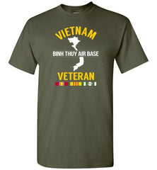 "Vietnam Veteran ""Binh Thuy Air Base"" - Men's/Unisex Standard Fit T-Shirt-Wandering I Store"