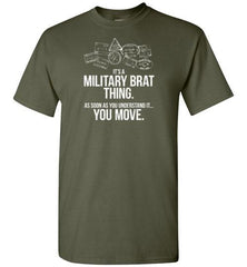 """Military Brat Thing"" - Men's/Unisex Standard-Fit T-Shirt-Wandering I Store"