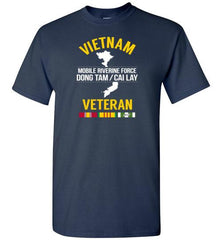 "Vietnam Veteran ""Mobile Riverine Force Dong Tam/Cai Lay"" - Men's/Unisex Standard Fit T-Shirt-Wandering I Store"