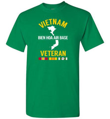 "Vietnam Veteran ""Bien Hoa Air Base"" - Men's/Unisex Standard Fit T-Shirt-Wandering I Store"