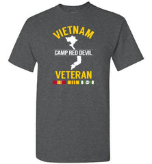 "Vietnam Veteran ""Camp Red Devil"" - Men's/Unisex Standard Fit T-Shirt-Wandering I Store"