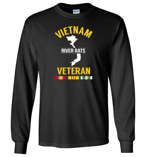 "Vietnam Veteran ""River Rats"" - Men's/Unisex Long-Sleeve T-Shirt-Wandering I Store"