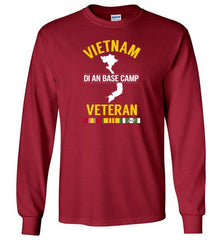 "Vietnam Veteran ""Di An Base Camp"" - Men's/Unisex Long-Sleeve T-Shirt-Wandering I Store"