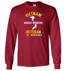 "Vietnam Veteran ""Whiskey Mountain"" - Men's/Unisex Long-Sleeve T-Shirt-Wandering I Store"