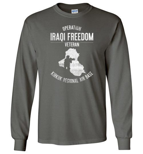 "Operation Iraqi Freedom ""Kirkuk Regional Air Base"" - Men's/Unisex Long-Sleeve T-Shirt-Wandering I Store"