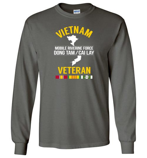"Vietnam Veteran ""Mobile Riverine Force Dong Tam/Cai Lay"" - Men's/Unisex Long-Sleeve T-Shirt-Wandering I Store"