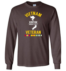 "Vietnam Veteran ""Kontum / Rocket City"" - Men's/Unisex Long-Sleeve T-Shirt-Wandering I Store"