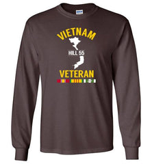 "Vietnam Veteran ""Hill 55"" - Men's/Unisex Long-Sleeve T-Shirt-Wandering I Store"