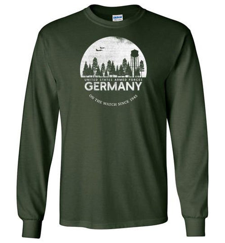 "U.S. Armed Forces Germany ""On The Watch Since 1945"" - Men's/Unisex Long-Sleeve T-Shirt-Wandering I Store"