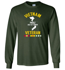 "Vietnam Veteran ""PIRAZ Gulf of Tonkin"" - Men's/Unisex Long-Sleeve T-Shirt-Wandering I Store"