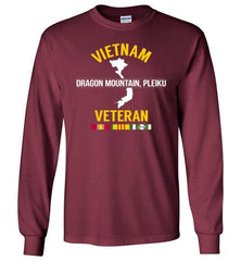 "Vietnam Veteran ""Dragon Mountain, Pleiku"" - Men's/Unisex Long-Sleeve T-Shirt-Wandering I Store"