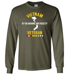 "Vietnam Veteran ""Ky Ha Marine Air Facility"" - Men's/Unisex Long-Sleeve T-Shirt-Wandering I Store"