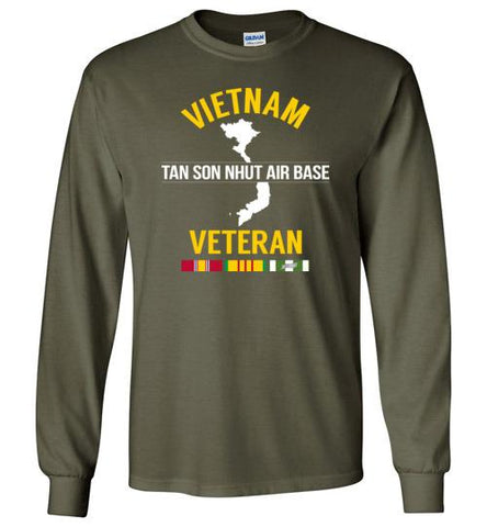 "Vietnam Veteran ""Tan Son Nhut Air Base"" - Men's/Unisex Long-Sleeve T-Shirt-Wandering I Store"