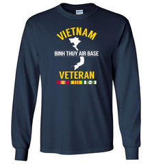 "Vietnam Veteran ""Binh Thuy Air Base"" - Men's/Unisex Long-Sleeve T-Shirt-Wandering I Store"