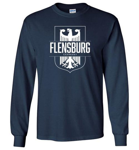 Flensburg, Germany - Men's/Unisex Long-Sleeve T-Shirt-Wandering I Store