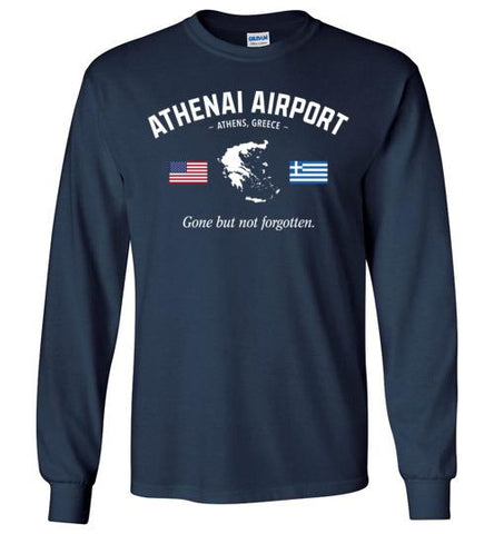 "Athenai Airport ""GBNF"" - Men's/Unisex Long-Sleeve T-Shirt-Wandering I Store"