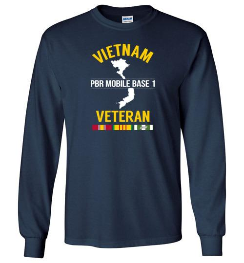 "Vietnam Veteran ""PBR Mobile Base 1"" - Men's/Unisex Long-Sleeve T-Shirt-Wandering I Store"