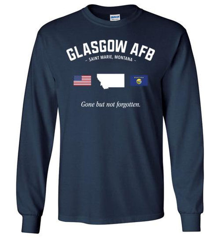 "Glasgow AFB ""GBNF"" - Men's/Unisex Long-Sleeve T-Shirt-Wandering I Store"