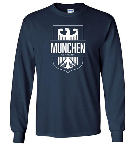 Munchen, Germany (Munich) - Men's/Unisex Long-Sleeve T-Shirt-Wandering I Store