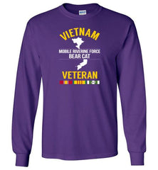 "Vietnam Veteran ""Mobile Riverine Force Bear Cat"" - Men's/Unisex Long-Sleeve T-Shirt-Wandering I Store"