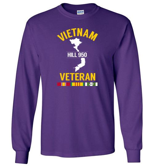 "Vietnam Veteran ""Hill 950"" - Men's/Unisex Long-Sleeve T-Shirt-Wandering I Store"