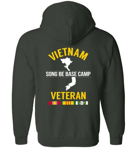 "Vietnam Veteran ""Song Be Base Camp"" - Men's/Unisex Zip-Up Hoodie-Wandering I Store"