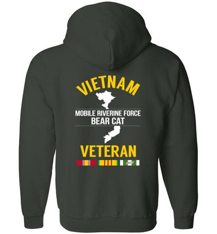 "Vietnam Veteran ""Mobile Riverine Force Bear Cat"" - Men's/Unisex Zip-Up Hoodie-Wandering I Store"