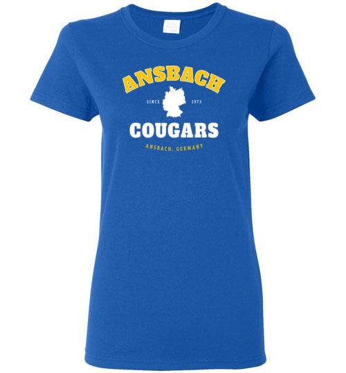 Ansbach Cougars - Women's Semi-Fitted Crewneck T-Shirt-Wandering I Store