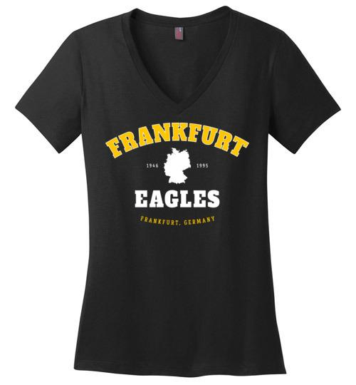 Frankfurt Eagles - Women's V-Neck T-Shirt-Wandering I Store