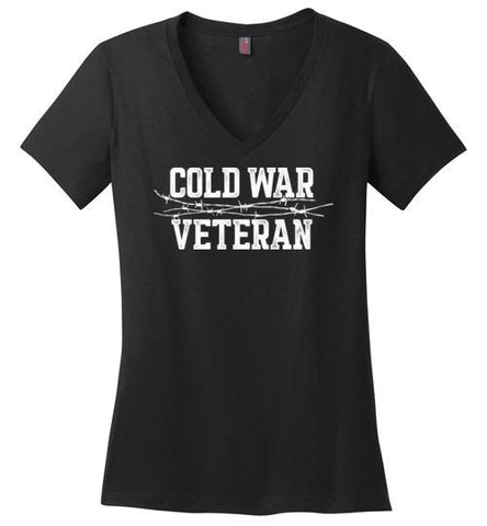Cold War Veteran - Women's V-Neck T-Shirt-Wandering I Store