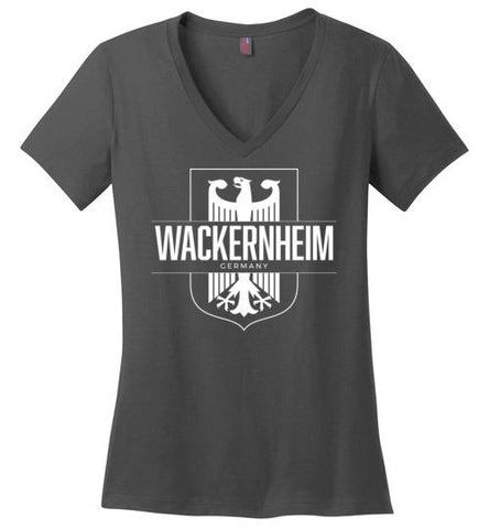 Wackernheim, Germany - Women's V-Neck T-Shirt-Wandering I Store