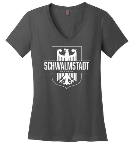 Schwalmstadt, Germany - Women's V-Neck T-Shirt-Wandering I Store