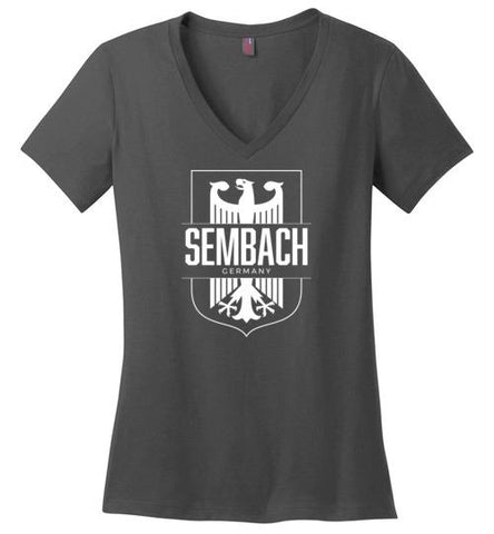 Sembach, Germany - Women's V-Neck T-Shirt-Wandering I Store