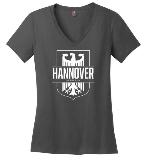 Hannover, Germany - Women's V-Neck T-Shirt-Wandering I Store