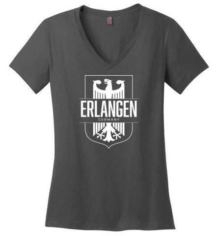 Erlangen, Germany - Women's V-Neck T-Shirt-Wandering I Store