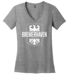 Bremerhaven, Germany - Women's V-Neck T-Shirt-Wandering I Store