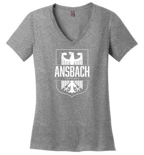 Ansbach, Germany - Women's V-Neck T-Shirt-Wandering I Store