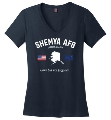 "Shemya AFB ""GBNF"" - Women's V-Neck T-Shirt-Wandering I Store"