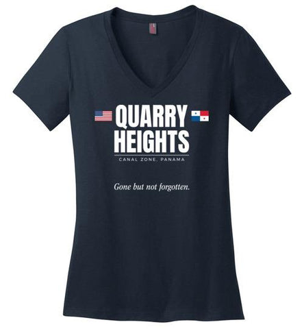"Quarry Heights ""GBNF"" - Women's V-Neck T-Shirt-Wandering I Store"