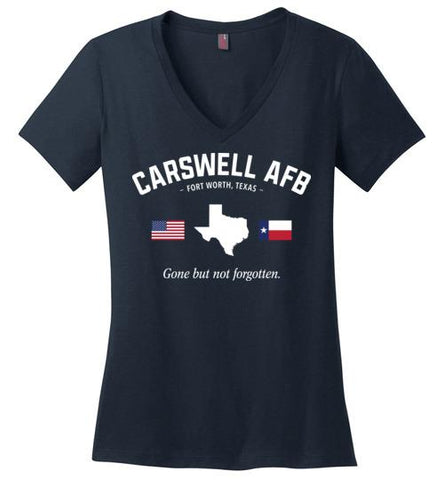 "Carswell AFB ""GBNF"" - Women's V-Neck T-Shirt-Wandering I Store"
