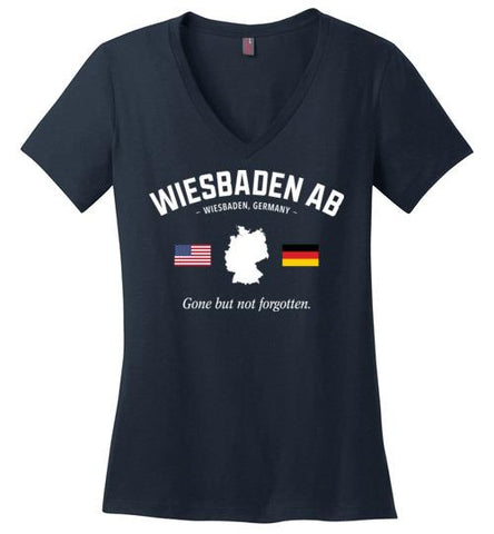 "Wiesbaden AB ""GBNF"" - Women's V-Neck T-Shirt-Wandering I Store"