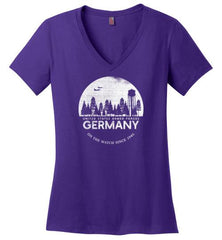 "U.S. Armed Forces Germany ""On The Watch Since 1945"" - Women's V-Neck T-Shirt-Wandering I Store"