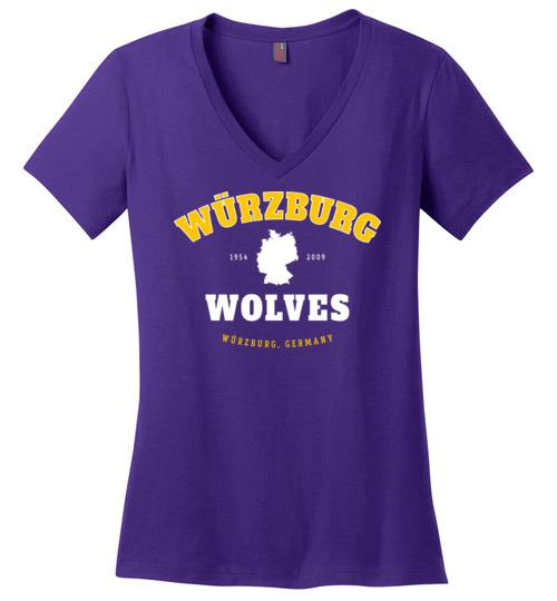 Wurzburg Wolves - Women's V-Neck T-Shirt