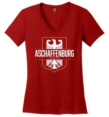 Aschaffenburg, Germany - Women's V-Neck T-Shirt-Wandering I Store