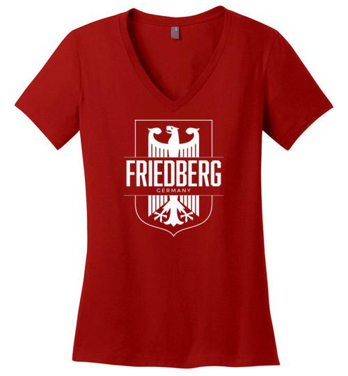 Friedberg, Germany - Women's V-Neck T-Shirt-Wandering I Store