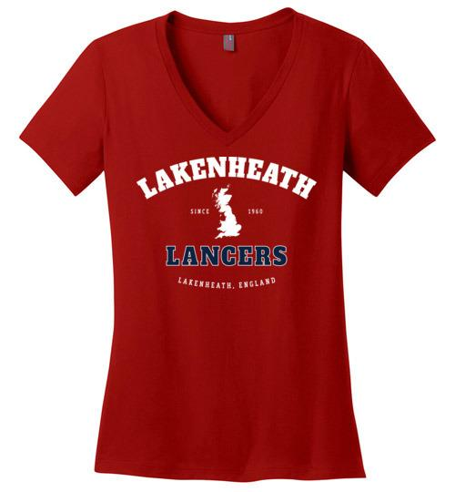 Lakenheath Lancers - Women's V-Neck T-Shirt-Wandering I Store